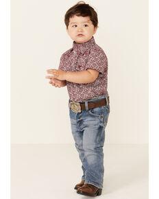 Wrangler Retro Toddler Boys' Linville Wash Stretch Slim Straight Jeans , Blue, hi-res