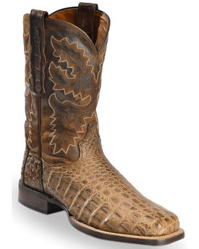 Dan Post Denver Bay Apache Flank Caiman Cowboy Boots - Square Toe, Bay Apache, hi-res