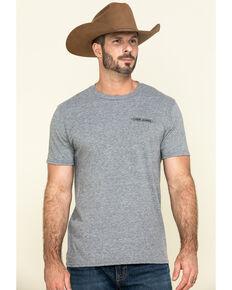 Cody James Men's Rodeo Take No Bull Graphic Short Sleeve T-Shirt , Heather Grey, hi-res