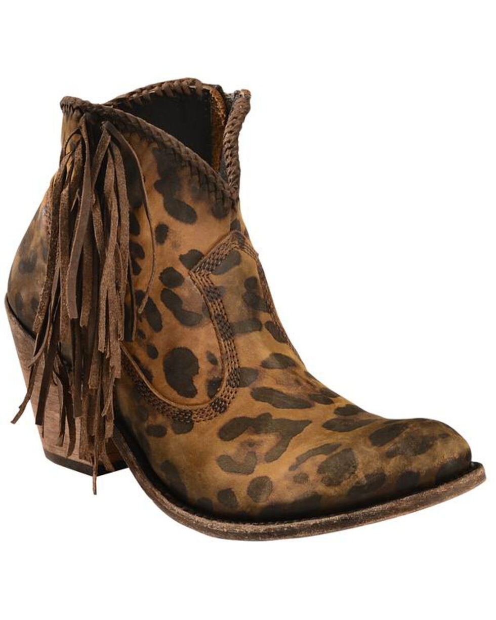 Liberty Black Women's Chita Miel Fringe Boots - Medium Toe, Cheetah, hi-res