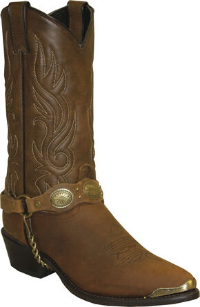 Sage by Abilene Black with Concho Strap Western Boots, Brown, hi-res