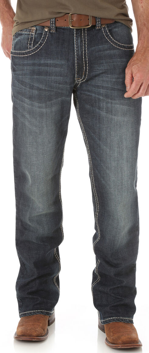 Wrangler Men's Indigo Rhythm Slim Boot Jeans - Big and Tall, Indigo, hi-res