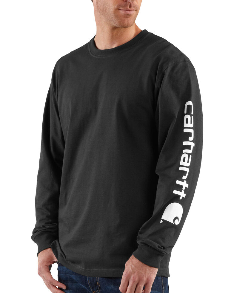 Carhartt Signature Logo Sleeve Knit T-Shirt, Black, hi-res