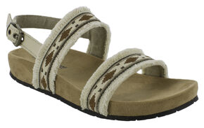 Minnetonka Women's Melody Sandals, Natural, hi-res
