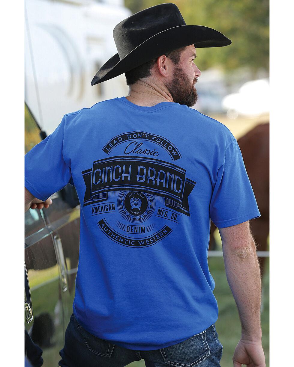 Cinch Men's Royal Blue Classic Cinch Crew Neck Tee , Royal Blue, hi-res