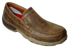 Twisted X Men's Leather Driving Moc - Composite Toe, Bomber, hi-res