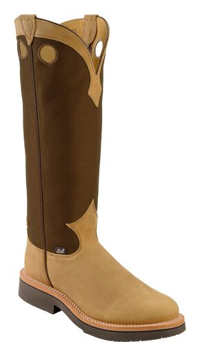 Justin Dune Traction Snake Proof Cowboy Boots - Round Toe, Dune, hi-res
