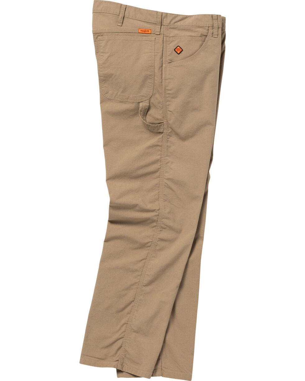 Wrangler Men's Tan FR Flame Resistant Carpenter Jeans - Straight Leg , Tan, hi-res