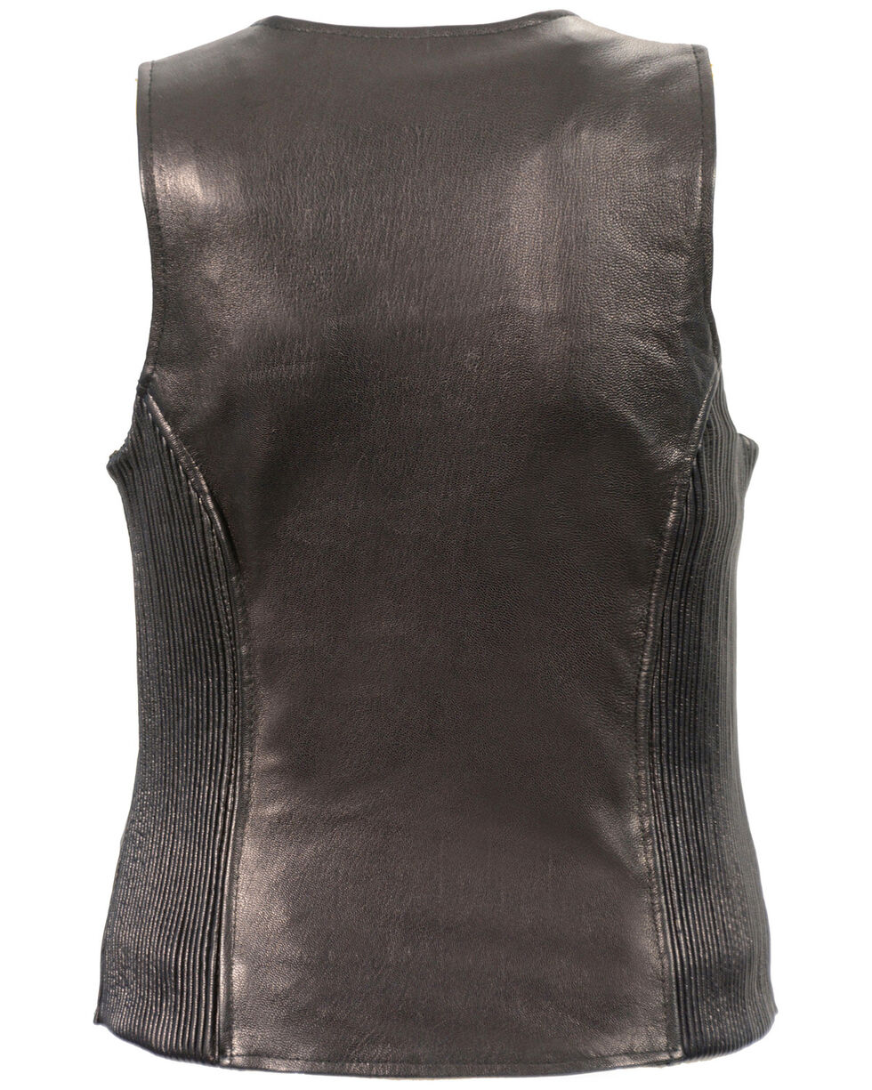 Milwaukee Leather Women's Black Lightweight Front Zipper Conceal Carry Vest , Black, hi-res