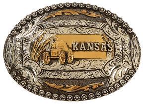 Cody James Kansas Oval Belt Buckle, Multi, hi-res