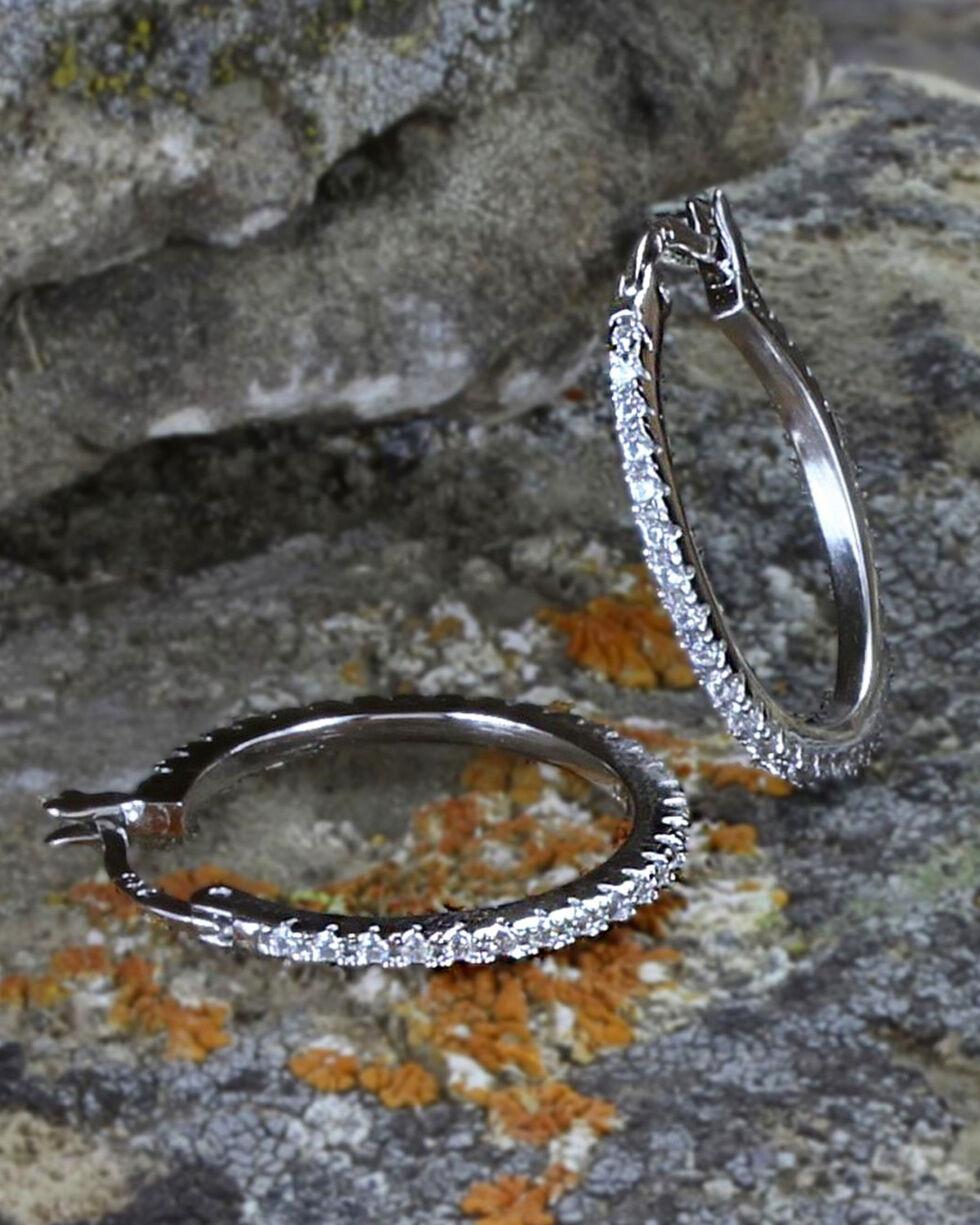 Montana Silversmiths Women's Silver Classic Hoop Earrings , Silver, hi-res