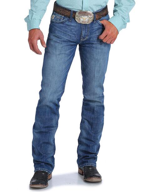 Cinch Men's Ian Medium Stonewash Slim Fit Jeans - Boot Cut, Indigo, hi-res