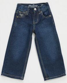 Cowboy Hardware Toddler Boys' Medium Wash Diamond Skull Embroidered Bootcut Jeans , Blue, hi-res