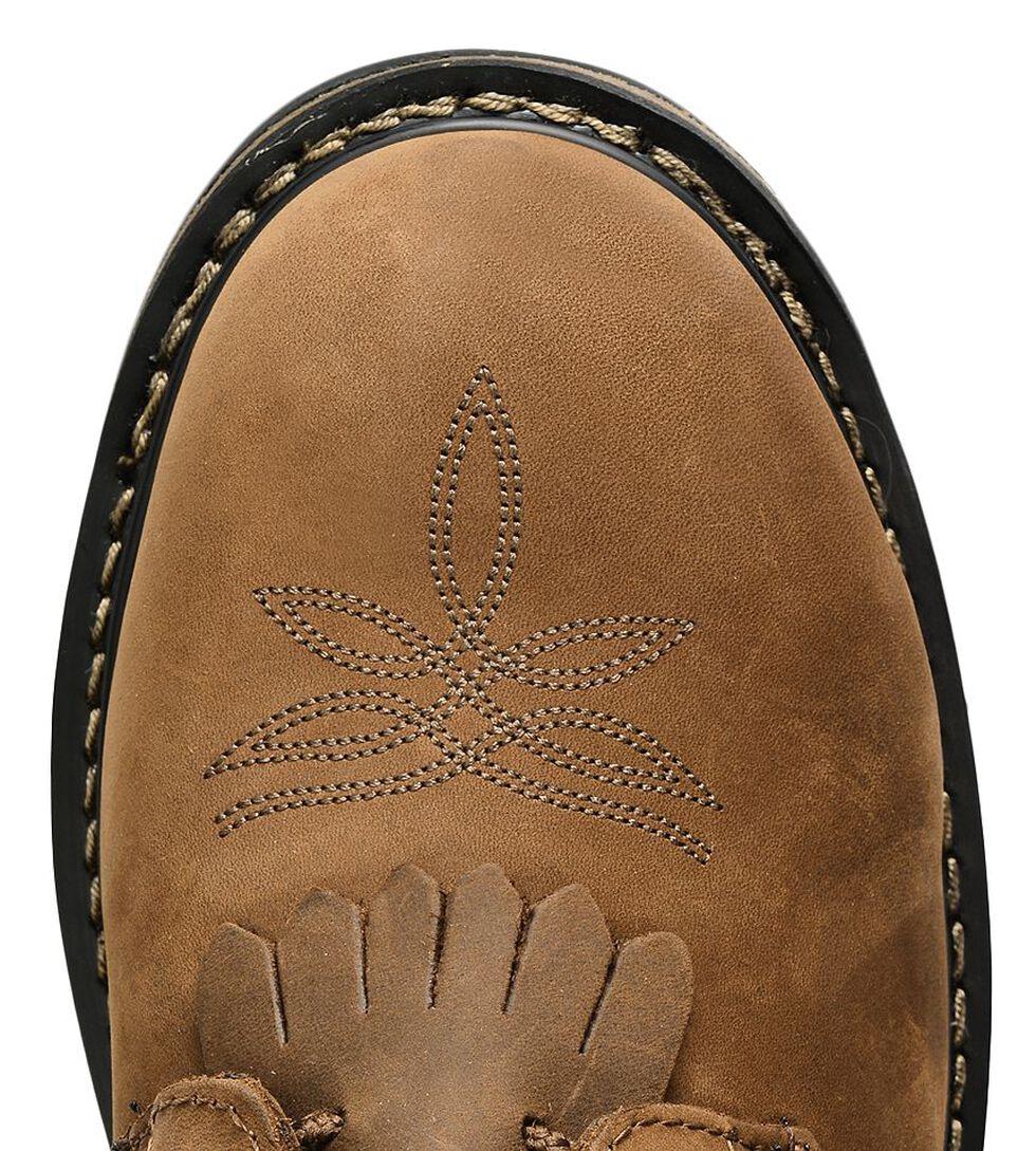 "Tony Lama Waterproof Cheyenne 8"" Lace-Up Work Boots - Steel Toe, Tan, hi-res"