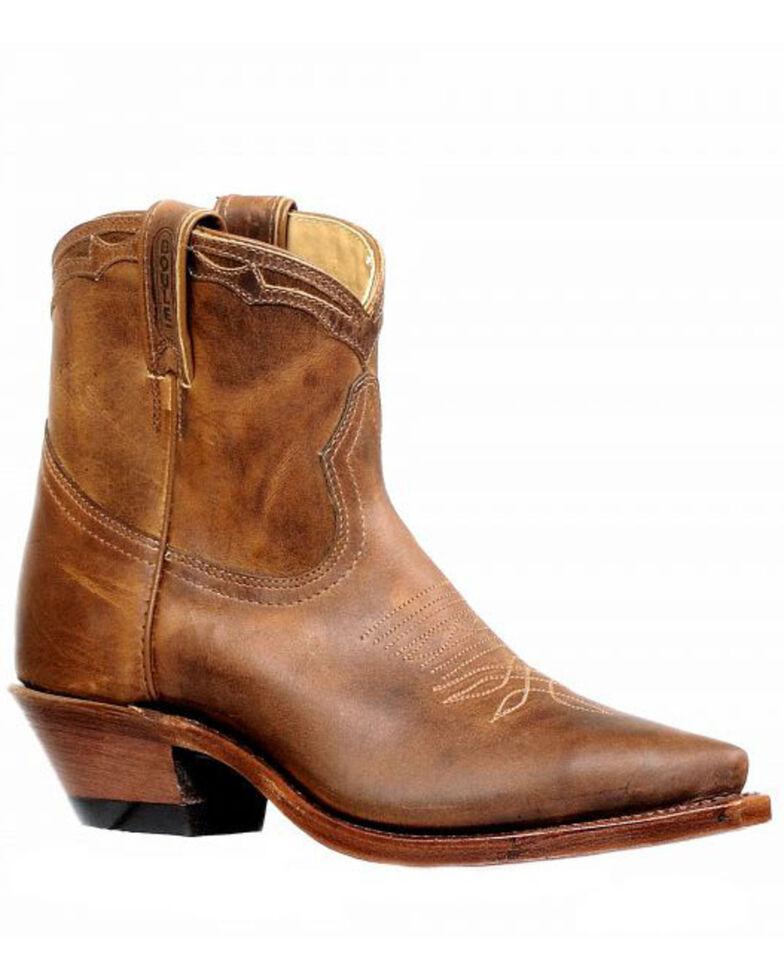 Boulet Women's Short Boots - Snip Toe, Tan, hi-res