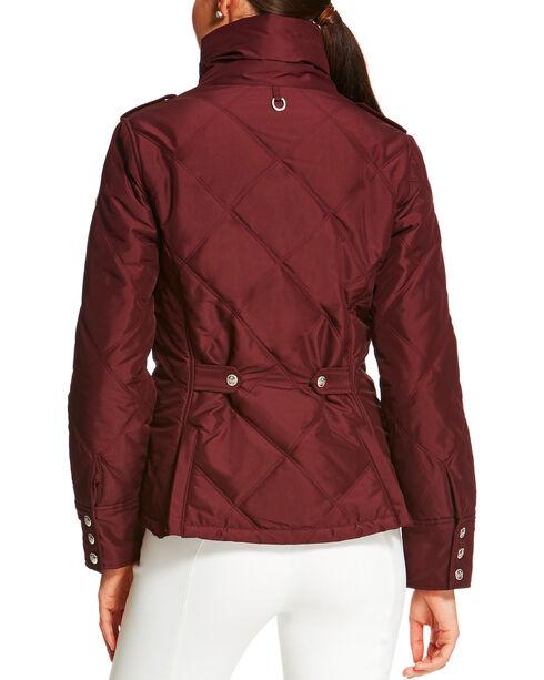 Ariat Women's Diamond Quilted Terrace Jacket, Burgundy, hi-res