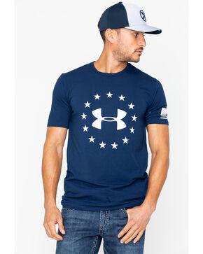 Under Armour Men's Freedom Logo T-Shirt, Navy, hi-res