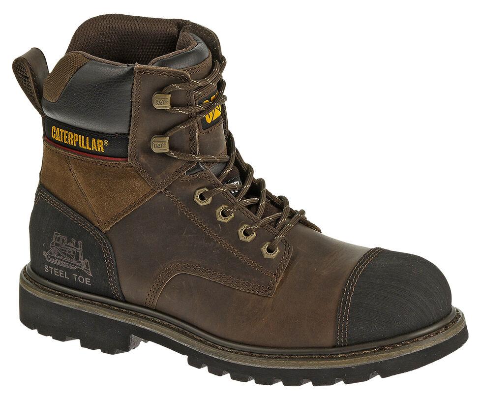 """Caterpillar Traction 6"""" Work Boots - Steel Toe, Dark Brown, hi-res"""