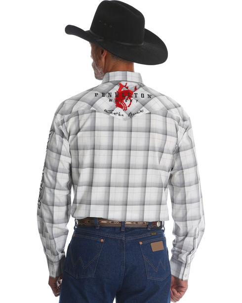 Wrangler Men's Pendleton Plaid Western Logo Shirt, White, hi-res
