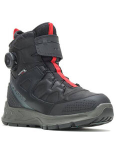 Wolverine Men's Polar Range Boa Work Boots - Soft Toe, Black, hi-res