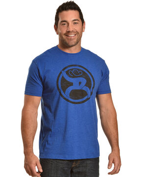 HOOey Men's Royal Blue Roughy Logo Tee , Royal Blue, hi-res
