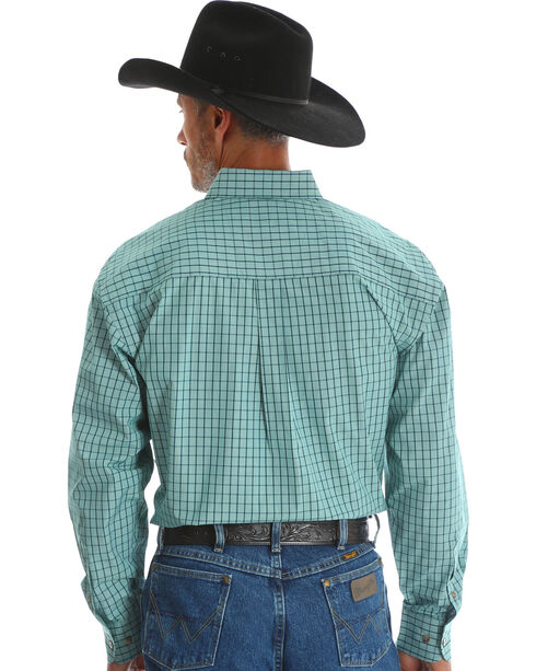 Wrangler Men's Green George Strait Button Down Shirt , Green, hi-res