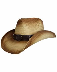 e65e160afc1c9 Peter Grimm Brown Tuned Western Straw Hat