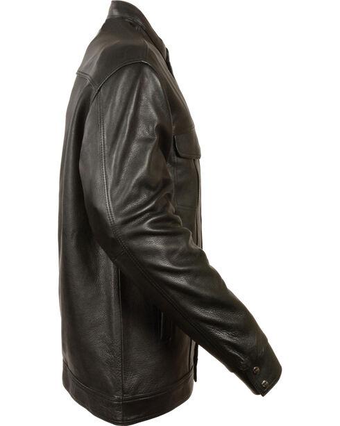 Milwaukee Leather Men's Black Club Style Shirt Jacket - Big 3X , Black, hi-res