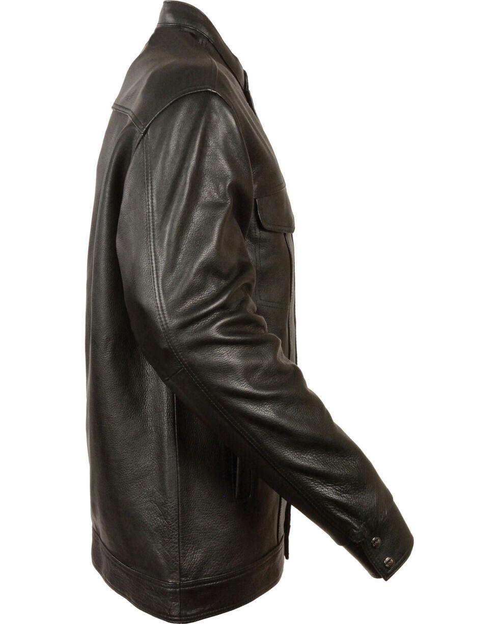 Milwaukee Leather Men's Black Club Style Shirt Jacket - Big 5X , Black, hi-res