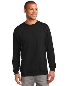 Port & Company Men's Jet Black 3X Essential Fleece Crew Work Sweatshirt - Big , Jet Black, hi-res