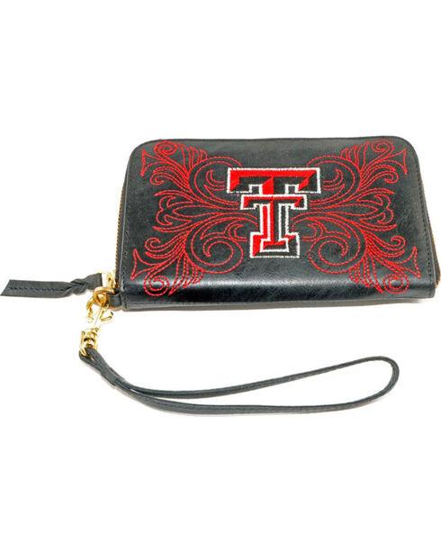 Gameday Boots Texas Tech University Leather Wristlet, Black, hi-res