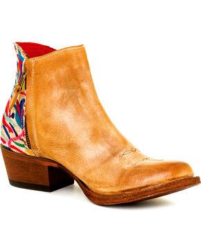 "Macie Bean Women's Camel ""Me Otomi My"" Fringe Booties - Round Toe , Camel, hi-res"