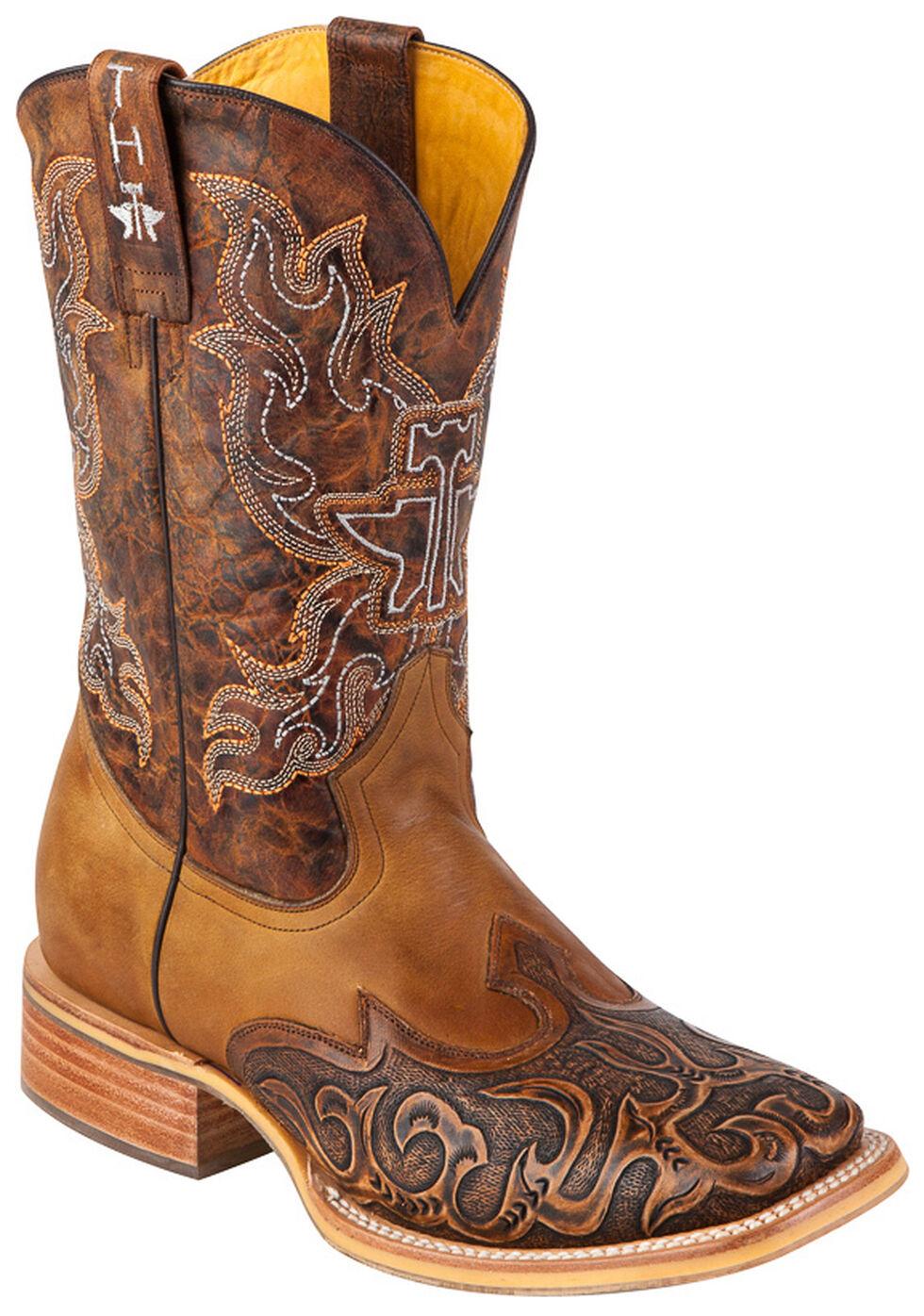 Tin Haul Smokin' Hot Rod Cowboy Boots - Square Toe, Brown, hi-res
