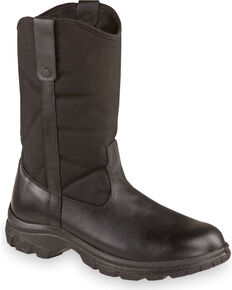 "Thorogood Men's 10"" SoftStreets Wellington Work Boots - Steel Toe, Black, hi-res"
