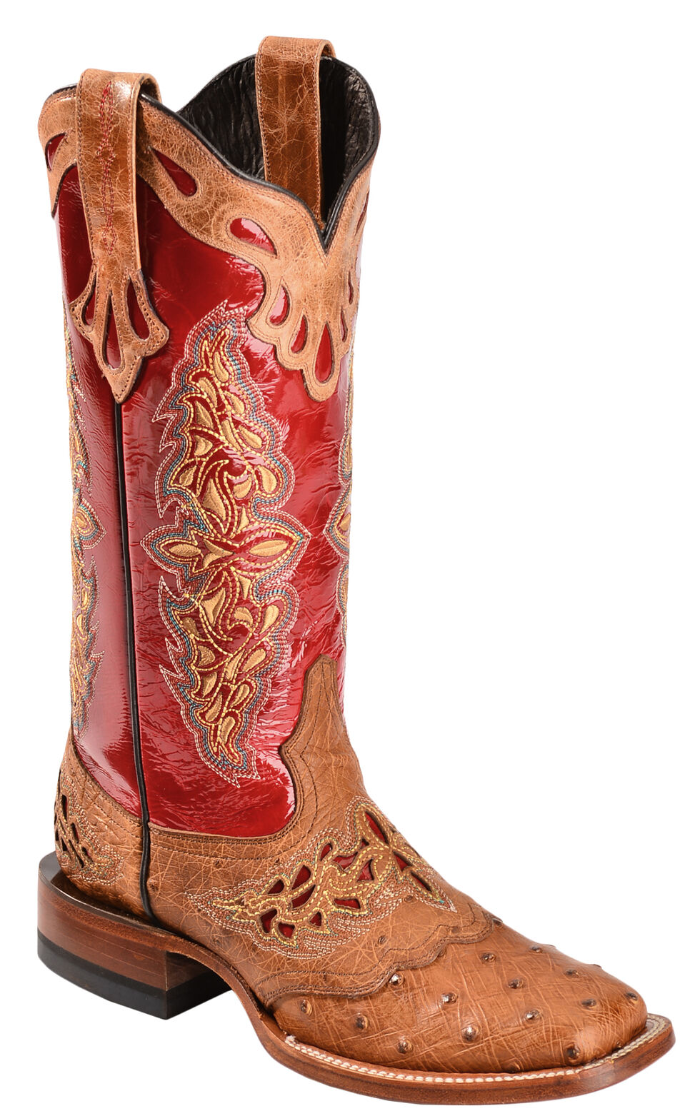 Lucchese 1883 Amberlyn Full Quill Ostrich Cowgirl Boots, , hi-res