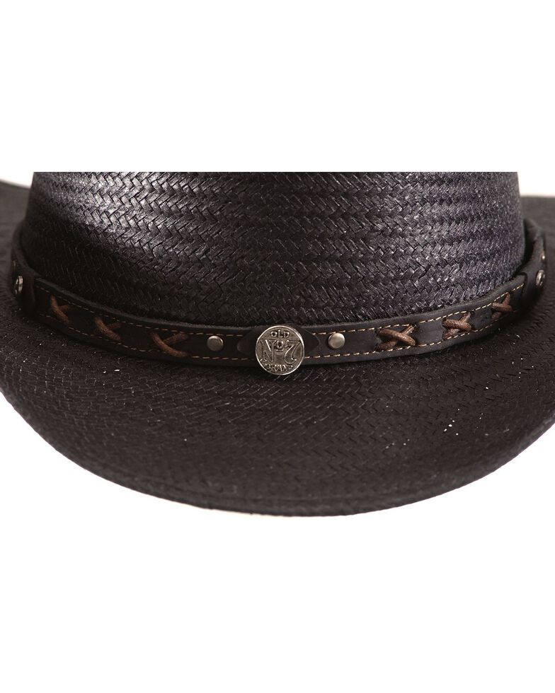 Jack Daniel's Black Straw Cowboy Hat , Black, hi-res