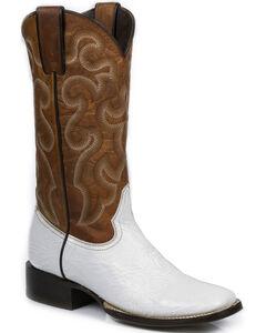 Stetson Women's White Shark Western Boots - Square Toe, White, hi-res