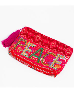 ále by Alessandra Women's PEACE of Cake Clutch , Red, hi-res