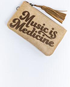 Idyllwind Women's Music Is Medicine Wristlet , Tan, hi-res