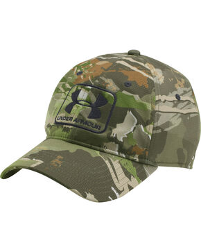 Under Armour Men's Forest Camo Stretch Fit Cap , Camouflage, hi-res