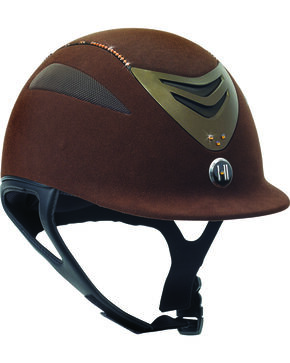 One K Defender Suede & Swarovski Stones Helmet, Brown, hi-res