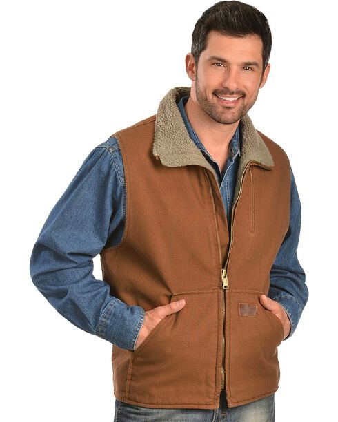 Gibson Trading Co. Faux Sherpa Vest, Shadow Brown, hi-res