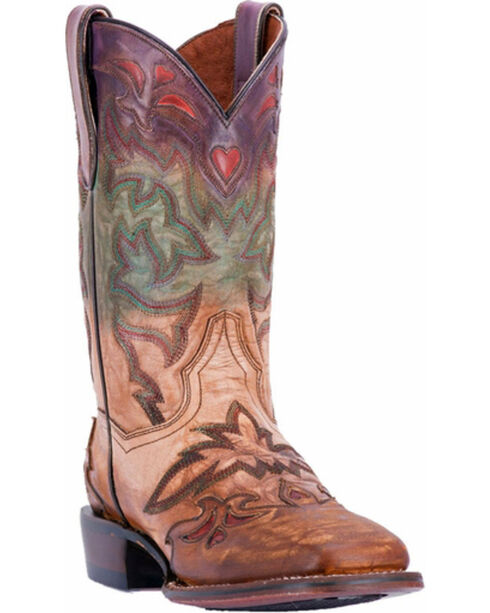 Dan Post Women's Paint Cowgirl Certified Western Boots - Square Toe, Multi, hi-res