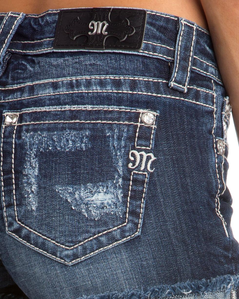 Miss Me Women's All Mine Mid-Rise Shorts, Indigo, hi-res