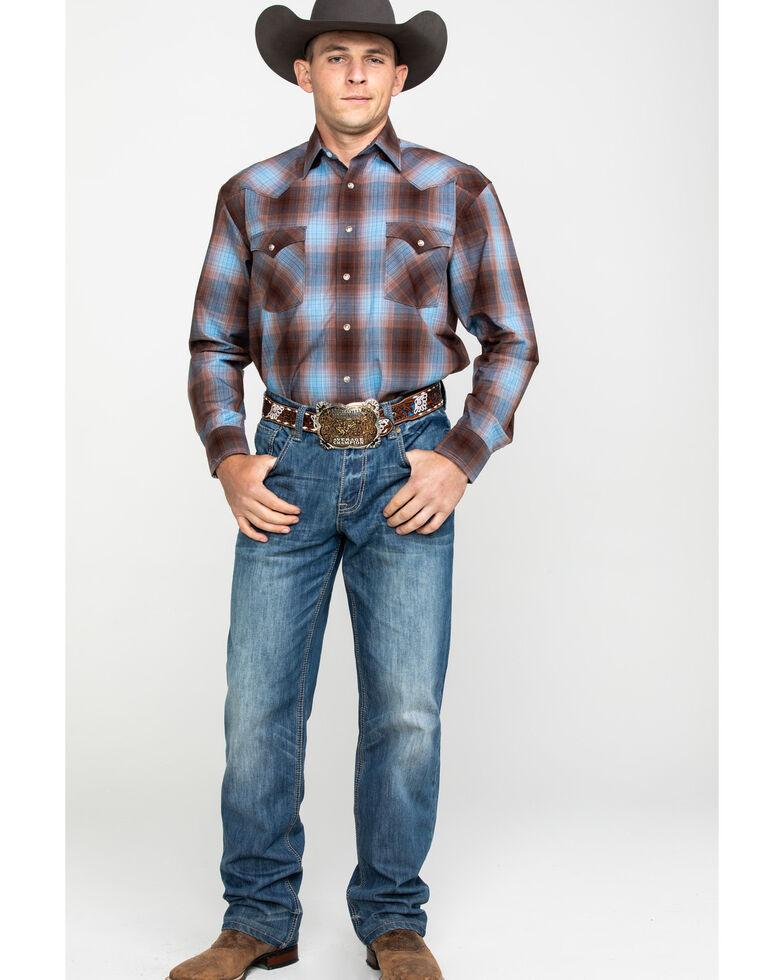 Rough Stock By Panhandle Men's Bari Vintage Plaid Snap Long Sleeve Western Shirt, Multi, hi-res
