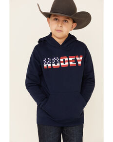 HOOey Boys' Navy Patriot Graphic Hooded Sweatshirt , Navy, hi-res