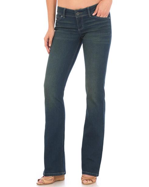 Wrangler Women's Indigo Retro Sadie Low Rise Jeans - Boot Cut , Indigo, hi-res