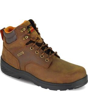 "Thorogood Men's 6"" Waterproof Thoro-Flex Work Boots - Round Toe , Brown, hi-res"