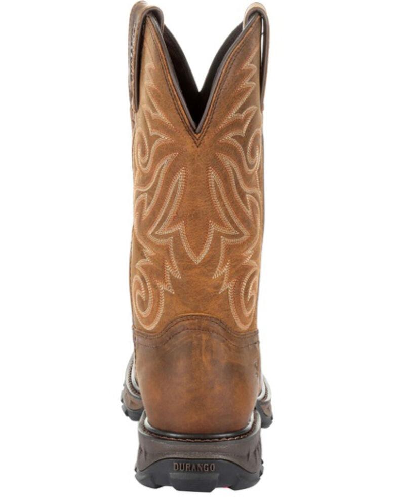 Durango Men's Maverick XP Waterproof Western Work Boots - Steel Toe, Brown, hi-res