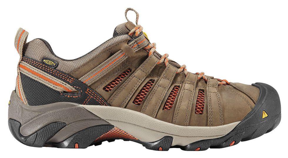 Keen Men's Flint Low Shoes - Steel Toe, Forest Green, hi-res